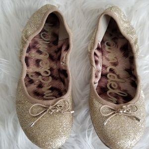 GIRLS Sam Edelman Glitter Slip Ons size 1 1/2